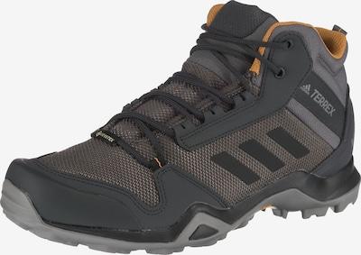 Sportiniai batai 'Terrex AX3 Mid GTX' iš ADIDAS PERFORMANCE , spalva - pilka / antracito / rusvai pilka, Prekių apžvalga