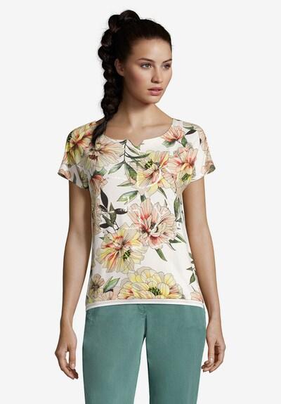 Betty & Co Shirt in beige / gelb / grün / orange / weiß: Frontalansicht