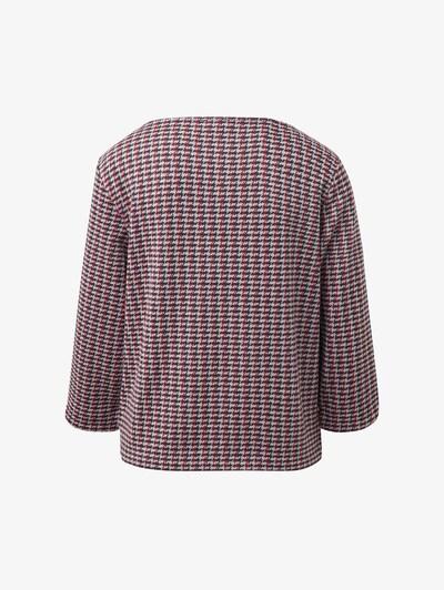 TOM TAILOR Karierter Sweater in dunkelblau / rot / weiß, Produktansicht