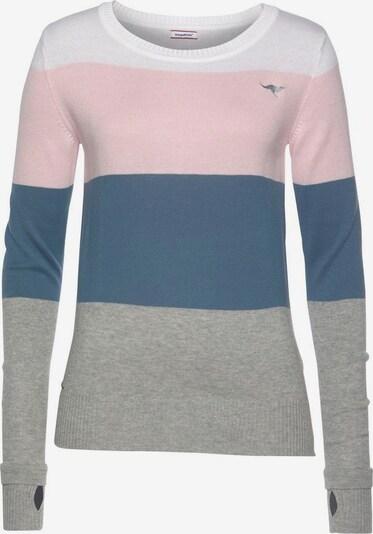 KangaROOS Pullover in taubenblau / graumeliert / rosa / weiß, Produktansicht