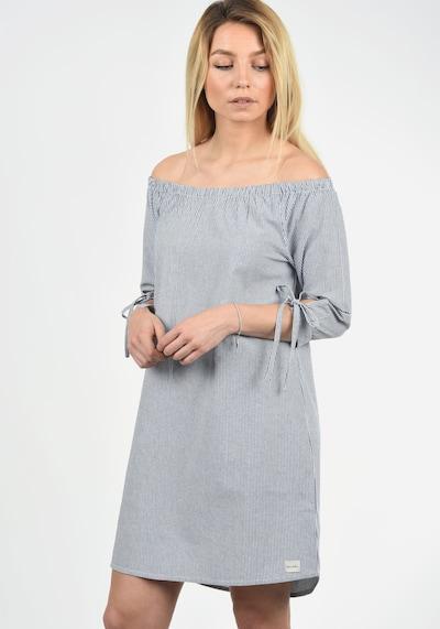 Blend She Off-Shoulder-Kleid 'Ophelia' in taubenblau, Modelansicht