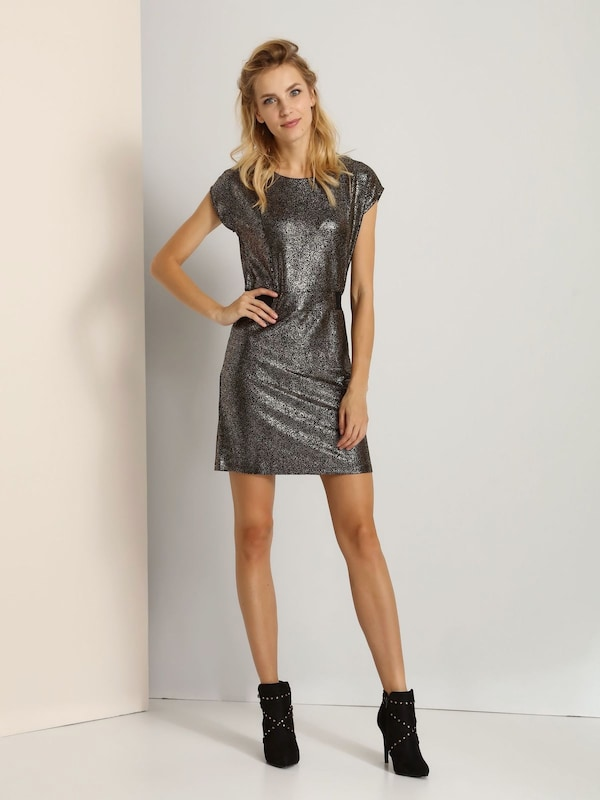 Top Secret Kleid mit Allover-Metallic-Print