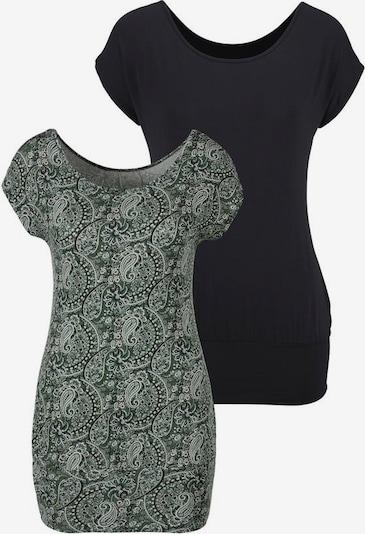 LASCANA T-shirt en bleu nuit / olive, Vue avec produit