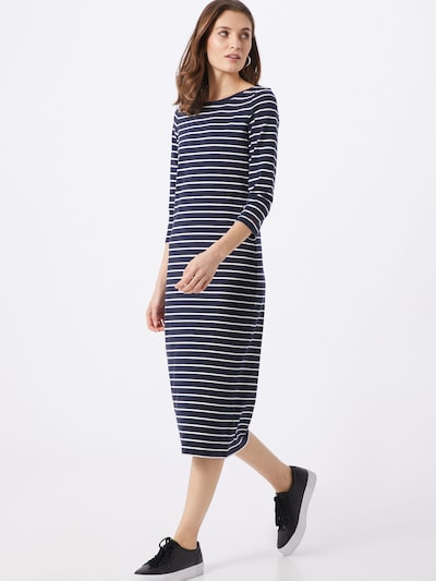 ESPRIT Kleid 'OCS Scallp' in navy / weiß, Modelansicht