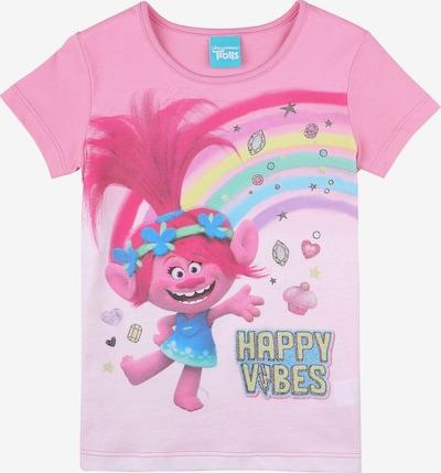 Trolls T-Shirt in hellblau / hellgelb / pink / altrosa, Produktansicht