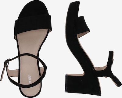 Sandale 'Elea' ABOUT YOU pe negru: Privire laterală
