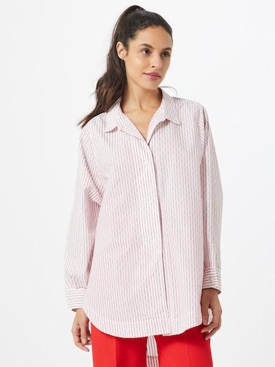 HUGO Bluza 'Exelia'   rdeča / bela barva, Prikaz modela