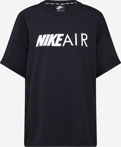 Nike Sportswear Lielizmēra krekls 'Air' melns / balts, Preces skats