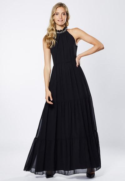 Young Couture by BARBARA SCHWARZER Robe de soirée en noir / argent: Vue de face