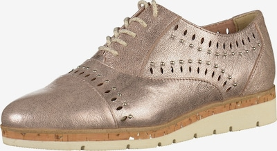 MARCO TOZZI Schnürschuh in rosegold: Frontalansicht