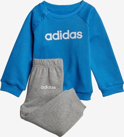 ADIDAS PERFORMANCE Jogginganzug 'Lin' in blau / graumeliert / weiß, Produktansicht