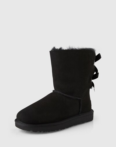 UGG Boots 'Bailey Bow II' in schwarz: Frontalansicht