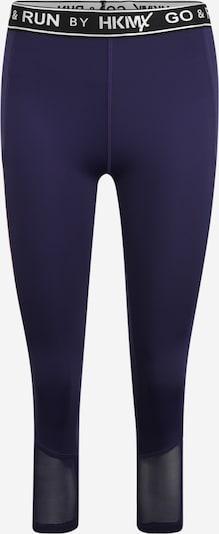 HKMX Pantalon de sport en bleu marine / rose ancienne / noir / blanc: Vue de face