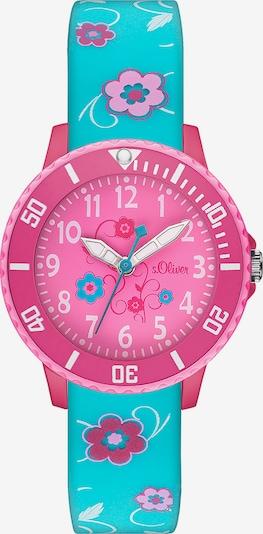 s.Oliver Uhr in türkis / pink / hellpink, Produktansicht
