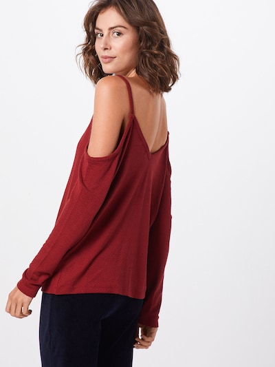 ABOUT YOU Majica 'Sheila' | rjasto rdeča barva: Pogled od zadnje strani