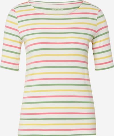 TOM TAILOR Shirt in gelb / apfel / pitaya / weiß, Produktansicht