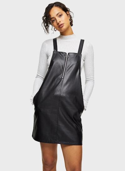 Miss Selfridge Latzkleid in schwarz, Modelansicht