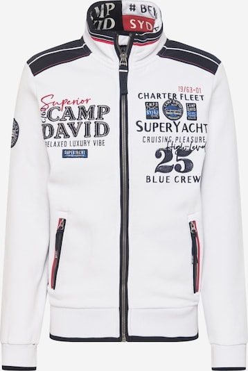 CAMP DAVID Sweatjacke 'Super Yachting II' in navy / pitaya / schwarz / naturweiß, Produktansicht