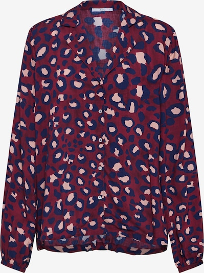 EDC BY ESPRIT Bluse in mischfarben / bordeaux, Produktansicht