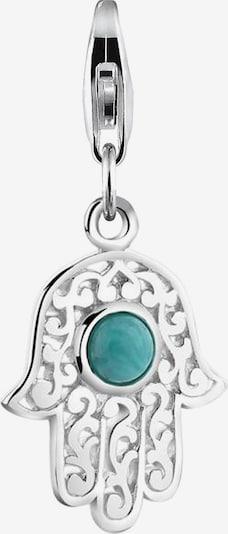 Nenalina Hangers 'Hamsa Hand' in de kleur Jade groen / Zilver, Productweergave