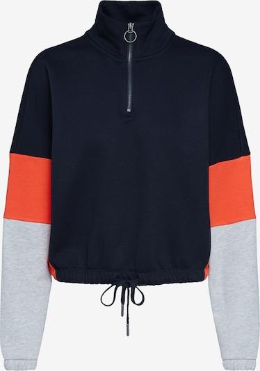 Megztinis be užsegimo 'OLIVIA' iš ONLY , spalva - šviesiai pilka / raudona / juoda, Prekių apžvalga