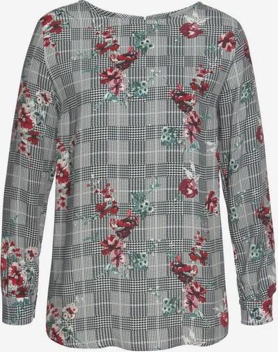TAMARIS Bluse in grau / grün / rot / weiß, Produktansicht