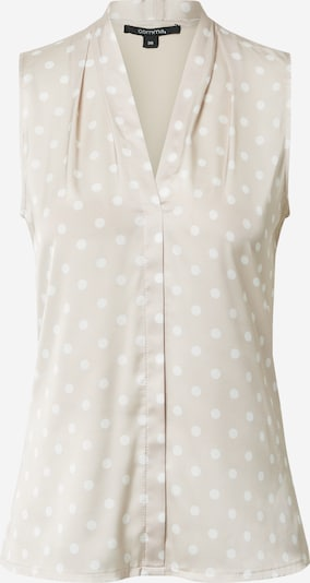 COMMA Top in beige / weiß, Produktansicht
