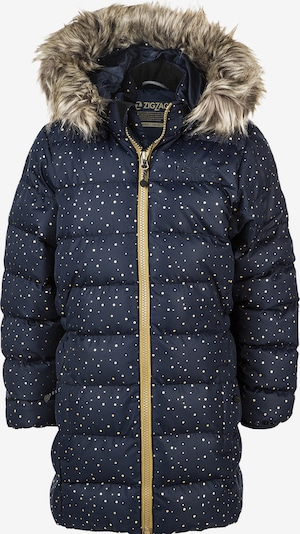 ZigZag Steppjacke 'Atsta Girl' in nachtblau / gelb, Produktansicht