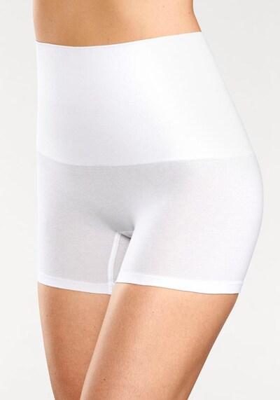 Pantaloni modellanti PETITE FLEUR di colore bianco: Vista frontale