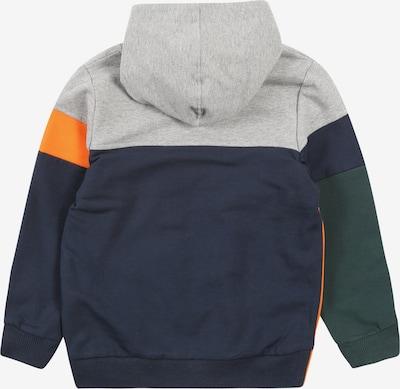 NAME IT Sweatshirt in blau / grau / dunkelgrün / orange: Rückansicht