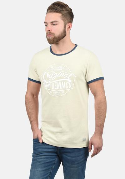 BLEND Rundhalsshirt 'Malex' in beige / weiß / naturweiß: Frontalansicht