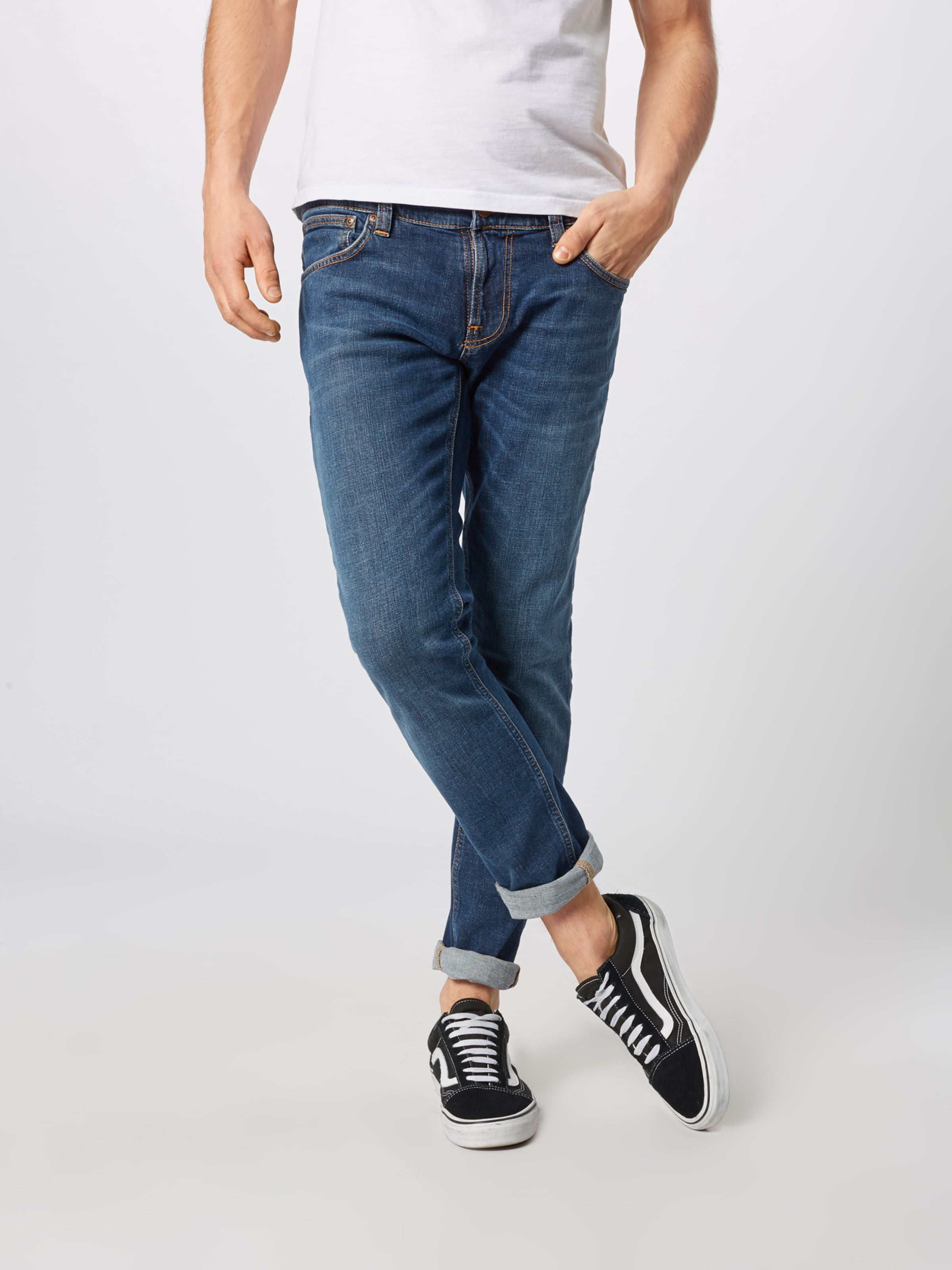 Nudie Jeans Jean Co 'tight Terry' En Bleu kwO80PXn