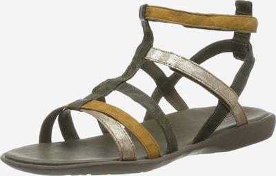 THINK! Sandale in senf / dunkelgrün / silber, Produktansicht