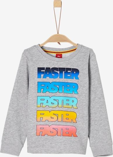 s.Oliver Junior Sweatshirt in graumeliert / mischfarben, Produktansicht