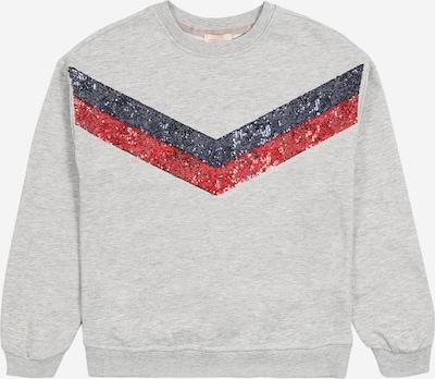 KIDS ONLY Sweatshirt in graumeliert / rot / blutrot: Frontalansicht