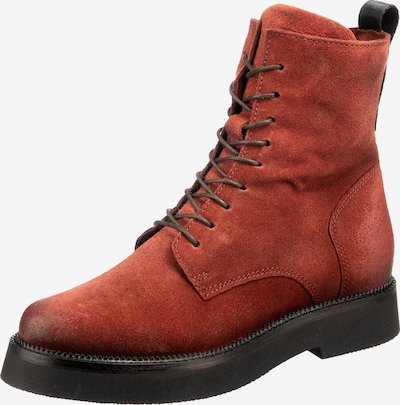 JOLANA & FENENA Lace-Up Ankle Boots in Lobster, Item view