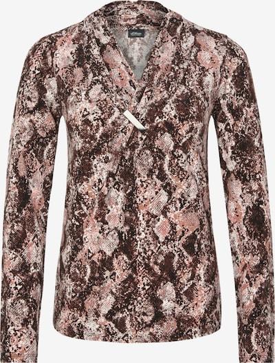 s.Oliver BLACK LABEL Shirt in braun / hellbraun: Frontalansicht