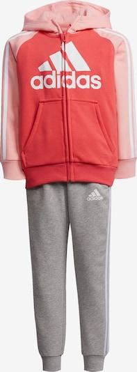 ADIDAS PERFORMANCE Sportanzug in graumeliert / rosa / rot / weiß, Produktansicht