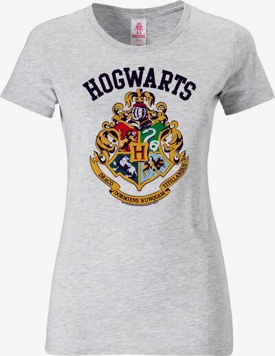 LOGOSHIRT T-Shirt 'Hogwarts' in graumeliert, Produktansicht