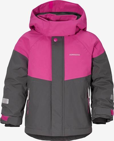 Didriksons Parka 'Lun' in dunkelgrau / pink, Produktansicht