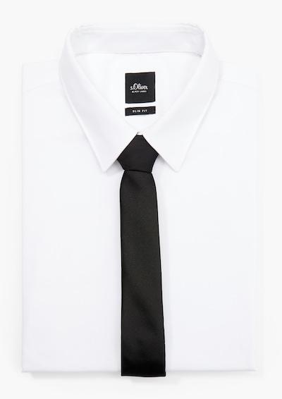 s.Oliver BLACK LABEL Krawatte in schwarz, Produktansicht