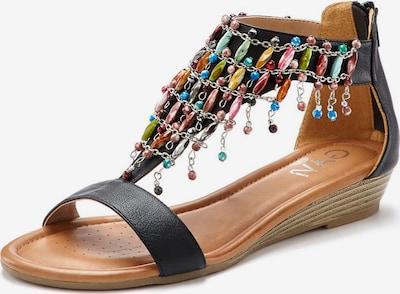 LASCANA Sandaal in de kleur Hemelsblauw / Lichtgroen / Rosa / Pastelrood / Zwart, Productweergave