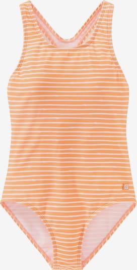 SCHIESSER Badeanzug in orange / weiß, Produktansicht