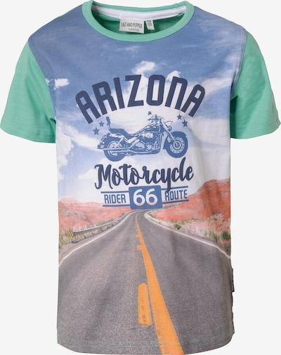 SALT AND PEPPER T-Shirt , Motorrad in grün, Produktansicht