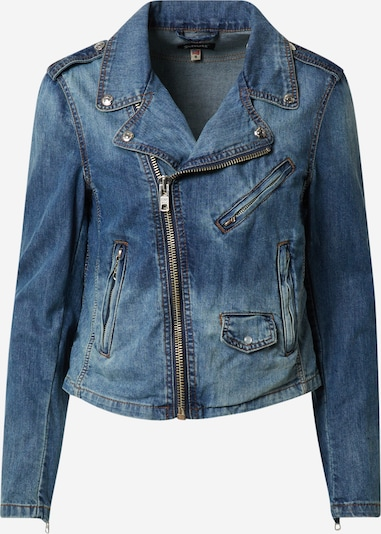 Schott NYC Jacke in blue denim, Produktansicht