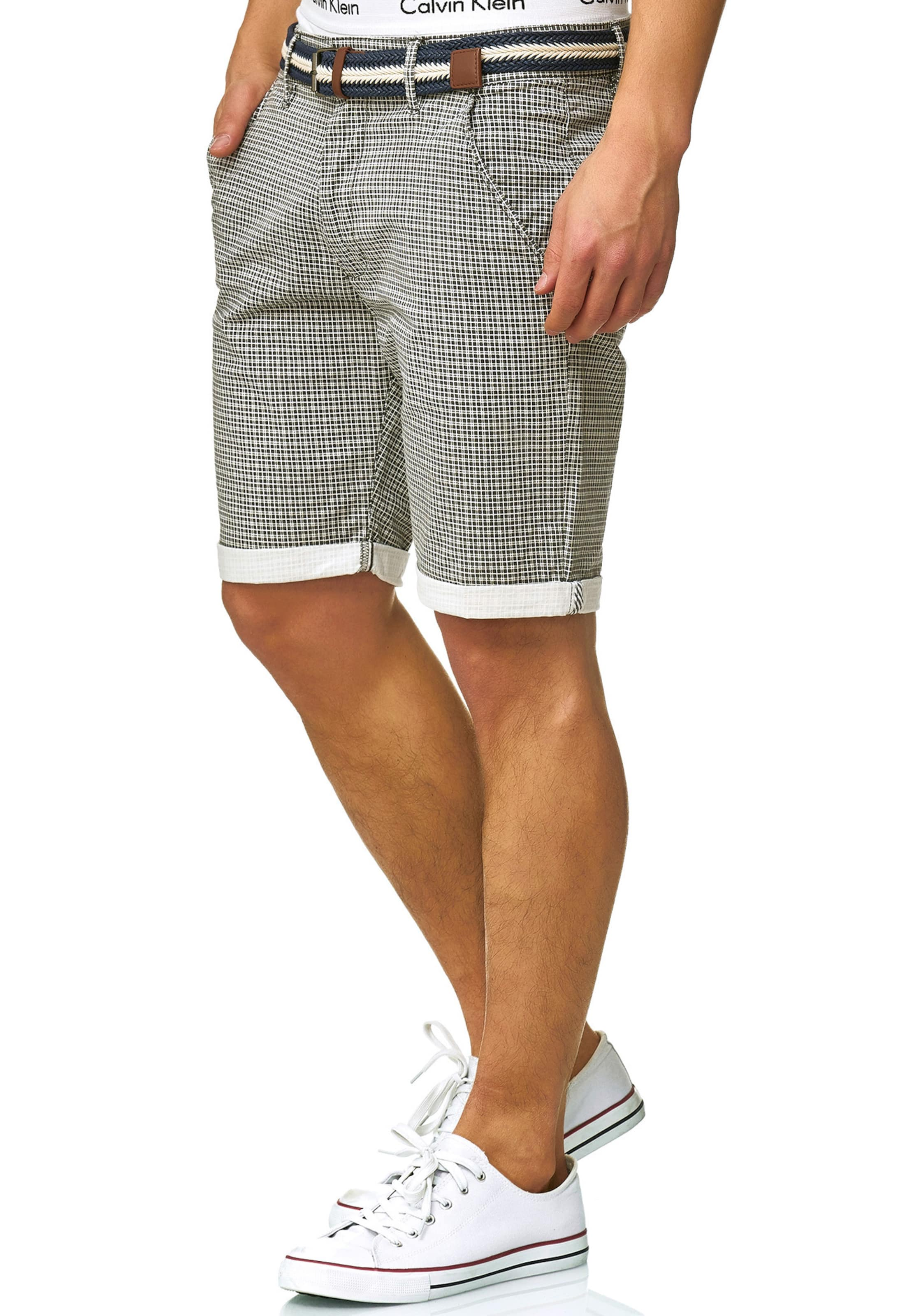 Indicode DunkelgrauNaturweiß Jeans 'bourchier' Shorts In qpGVSUzM
