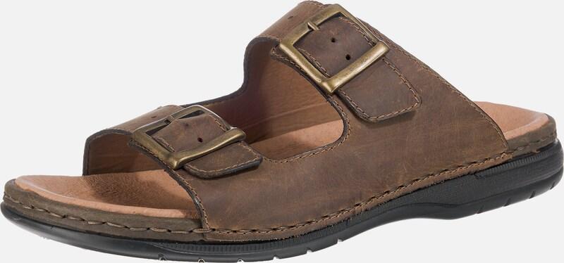 RIEKER Sandalen mit Goldenen Schnallen Leder Wilde Freizeitschuhe