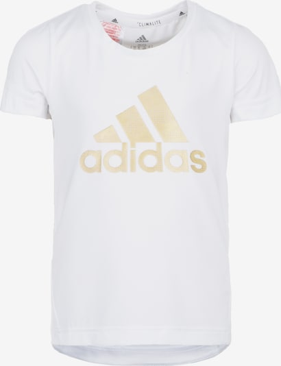 ADIDAS PERFORMANCE Funktionsshirt 'TR HLD' in gold / weiß, Produktansicht