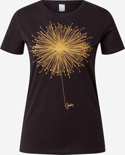 Iriedaily T-Shirt 'Blowball' in goldgelb / schwarz, Produktansicht