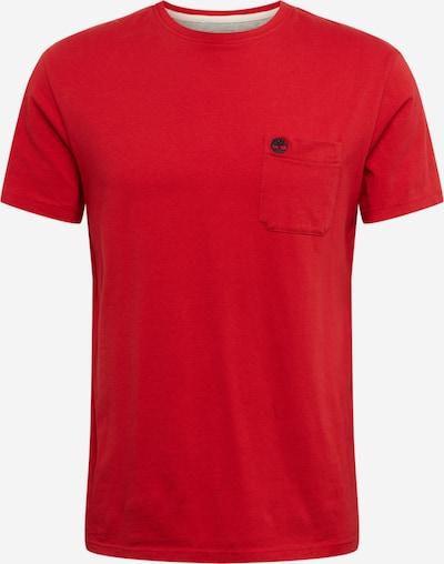 TIMBERLAND Shirt 'SS Dun-Riv Pocket T' in rot, Produktansicht